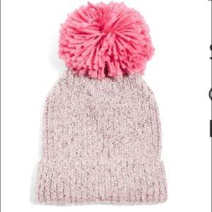 Topshop Pom Pom beanie pink